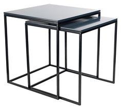 Zestaw stołów SANDBJERG szary/czarny | JYSK