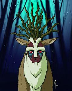 Momomoke Great Forest Spirit By AleX Tercero Paz Interior, My Escape, Spirit, Artwork, Fictional Characters, Work Of Art