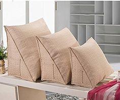 Tridimensionales cojines triangulares, Triángulo de cabecera gran cojín amortiguador del sofá cojines de almohada lumbar oficina de cama cojín del respaldo Cuello lavable Cojines estéreo ( Color : E , Tamaño : L ): Amazon.es: Hogar