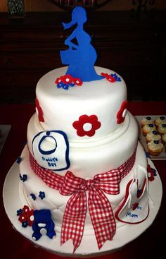 Baby Shower Cake by Country Rumcakes by Tania