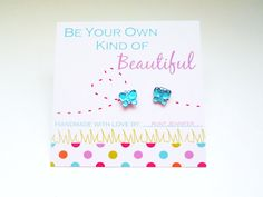 Girl's Printable Earring Card with Handmade Earrings {Gift or Party Favor Idea}