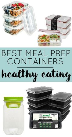 Best Containers for Meal Prep - These food storage containers make meal prep for beginners so much easier! Super easy to portion control your healthy meals for weight loss. de vidro, Fitness Meal Prep Containers for Healthy Living Healthy Eating Recipes, Healthy Meal Prep, Healthy Foods To Eat, Healthy Protein, High Protein, Healthy Weight, Keto Recipes, Cooking Recipes, Best Meal Prep Containers
