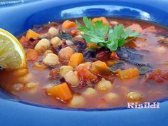 Kisildi: Marokkói csicseriborsó leves Bab, Eat Pray Love, Cantaloupe, Food To Make, Finger, Food And Drink, Fruit, Recipes, Fingers