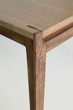 """Bobois"" translated to ""beautiful wood,"" is evident in the precise mortise and tenon joinery of Stephane Lebrun's Assemblage Table."