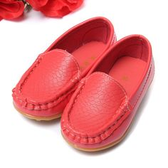 New Girls Boys PU Soft Leather Children Shoes Kids For Breathable Sneakers  Flats With Fashion Soft Moccasins Kids Shoes Loafers 37e556f05abc