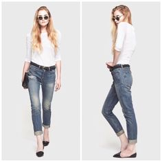 Rag & Bone The Big Sur Marilyn Jean Super cute and perfect for everyday. Distressing throughout. Brand new with tags. No trades!! 121315rbo rag & bone Jeans Straight Leg
