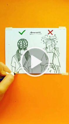 nursema( has created a short video on TikTok with music orijinal ses. How to draw a girl 💖💜💖 Kız nasıl çizilir 😊 Girl Drawing Sketches, Cartoon Girl Drawing, Art Drawings Sketches Simple, Pencil Art Drawings, Easy Drawings, Best Friends Cartoon, Drawings Of Friends, Diy Canvas Art, Cute Cartoon Wallpapers
