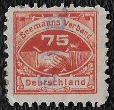 + Seafarer's Association Germany 75pf Sailors Union used