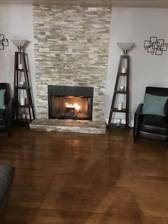 New fireplace brick