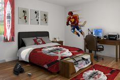 kids 39 room on pinterest hockey hockey sticks and hockey bedroom