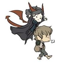 Smauglock & Jawn Baggins. C'moooon, admit it, it's cuuuute >w