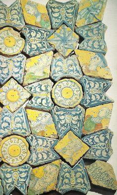 Antique Tiles, Vintage Tile, Terracota, Ceramics Projects, Medieval Art, Tile Patterns, Ancient Art, Mosaic Tiles, Art Deco