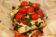 Fish Baked in Parchment- Healthy. Colorful. Creative.