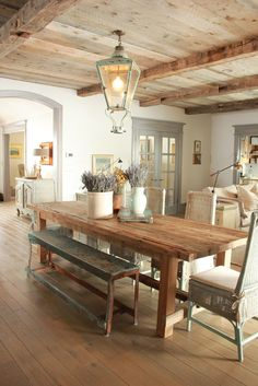 "myarchitecturaldreams: ""Rustic dining via Decor de Provence """