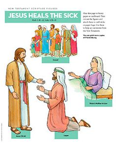 Scripture Figures, Jesus Heals the Sick