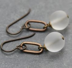 Etsy Transaction - Vintage Czech Glass and Brass Earrings