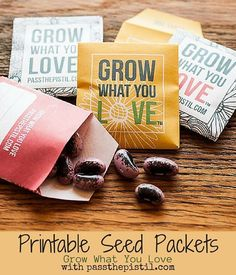 These free printable seed packets are perfect for seed saving and gift giving! Grow what you love and pass it on.