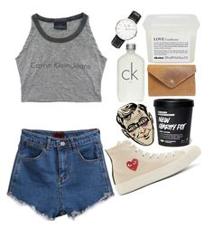 #25738478 by laurafetch on Polyvore featuring мода, Play Comme des Garçons, Daniel Wellington, Calvin Klein and Davines