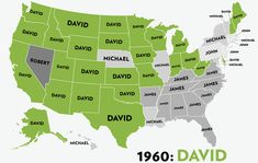 Most Popular United States Boys Name 1960-2012