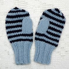 Enkle barnevotter (oppskrift) | MAJAS HOBBYKROK Knit Mittens, Baby Knitting Patterns, Baby Booties, Knitting Projects, Knit Crochet, Diy And Crafts, Gloves, Wool, Inspiration