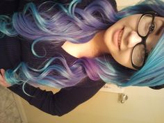 pravana chromasilk vivids in violet and blue diluted with conditioner. dontbefooledbyemptyness.tumblr.com