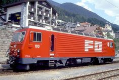 HGe 4/4 II 103 (Foto: Manfred Möldner) Chur, Train, Vehicles, Swiss Railways, Photos, Locomotive, Photo Illustration, Zug, Rolling Stock