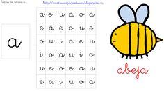 http://mistrucosparaeducar.blogspot.com.es/2013/03/sopas-de-letras-vocales.html Busca la letra a, rodeala, pintala, repasala, ...