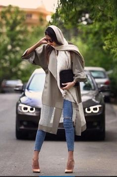 Modest designs, chic styles and bright colors are presenting the Iranian fashion trends! who says' that you can't look chic Iranian Women Fashion, Islamic Fashion, Muslim Fashion, Hijab Fashion, 40 Year Old Womens Fashion, Women In Iran, Teheran, Hijab Stile, Casual Fashion Trends