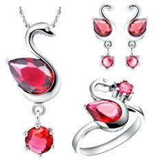 Swan Shaped Jewelry Set High Quality by UloveFashionJewelry, $16.21