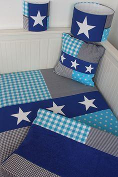 Set babykamer: grijs - kobaltblauw - turquoise