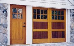 exterior doors with bullseye glass - Google Search Craftsman Style Front Doors, Bullseye Glass, Exterior Doors, Garage Doors, Hardware, Windows, Google Search, Outdoor Decor, Home Decor
