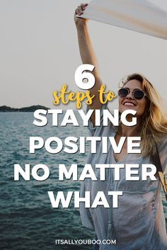 Are you tired of being unhappy and negative all the time? The power of positive thinking is real and can change your life. Click here for the 6 Steps to staying positive no matter what happens. Plus, get 12 FREE Printable Positive Affirmations to help you gain a positive mindset.