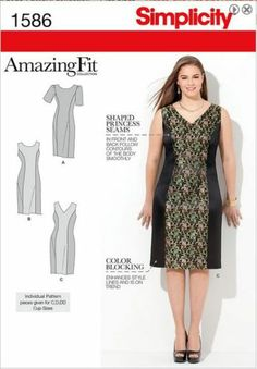 Simplicity Sewing Pattern 1586 Misses or Plus Size Amazing Slimming Fit Sz 10 28 | eBay