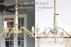 Let's call today Thrifty Thursday… With some classic brass chandeliers (found at the Habitat Restore), some chalk paint, and some wax, we now have a gorgeous, finished living room. I shared the full tour earlier this week, but suffice it to say that these babies were WAY better than the budget lights we affectionately refer …