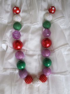 Super cute Chunky Bead Ariel Inspired by TeagaBooBoutique on Etsy, $14.00