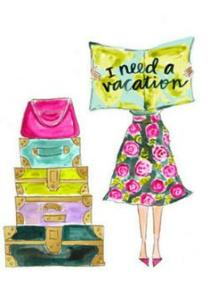 I Need a Vacation – Evelyn Henson Art And Illustration, Illustrations, Evelyn Henson, My Little Paris, Need A Vacation, Jolie Photo, Copics, Travel Posters, Cute Drawings