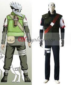 Naruto Hatake Kakashi Misson Cosplay Costume