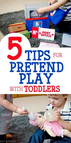 You've got to check out these 5 tips for pretend play with toddlers! You'll love these dramatic play tips! See some great dramatic play ideas with products from Lakeshore Learning #ad