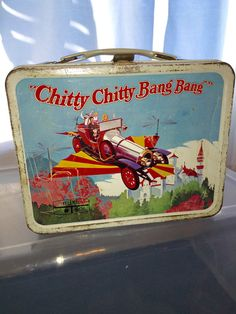1968 Dick Van Dyke Chitty Chitty Bang Bang by GypsyWagonDesign Vintage Lunch Boxes, Metal Lunch Box, Catholic School, Lunch Time, Bang Bang, Family Love, Clean Up, Movie Stars, You And I