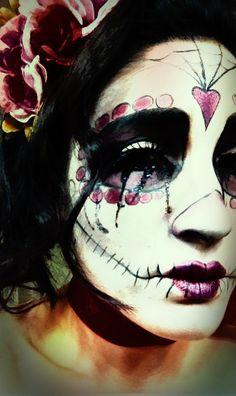 day of the dead, sugar skull, makeu-up, halloween make-up