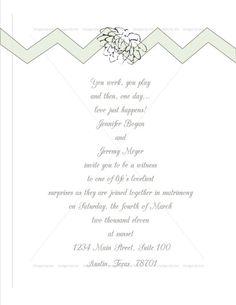 Custom Wedding Stationery - Invitation Designs by DesignsByJen10 on Etsy, $30.00