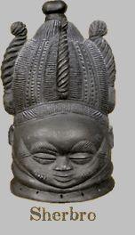 Sherbro. Sande Society Mask