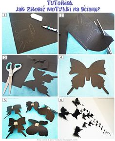 Motylki na ścianę Wall Buterfly #buterfly #diy #walldecoration