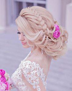 Best Wedding Hairstyles, Loose Hairstyles, Bride Hairstyles, Fashion Hairstyles, Bridal Braids, Bridal Hair, Chignon Volume, Medium Hair Styles, Short Hair Styles