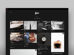 (   objective   )   tumblr theme in black by Marcin Czaja #tumblr #theme #layout #portfolio #inspire #gallery #grid