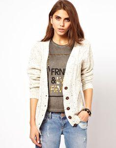 Glamorous Aran Knit Boyfriend Cardigan