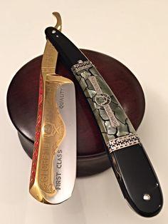 """Globusmen 46 """"Gold"""" - 8/8 Straight Razor Shaving Kit, Shaving Razor, Wet Shaving, Shaving & Grooming, Men's Grooming, Vintage Straight Razors, Barber Razor, Safety Razor, Knives And Swords"""