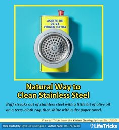 Kitchen Cleaning - Natural Way to Clean Stainless Steel