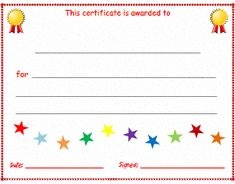 Free Resources for ESL Kids Teachers: Printable certificates, lesson plan templates & attendance sheets. Attendance Certificate, Blank Certificate, Printable Certificates, Award Certificates, Certificate Programs, Certificate Templates, Accounting Certificate, Nursing Schools In Nyc, Lpn Schools