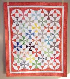 Saltwater Taffy Quilt - finished by twinfibers, via Flickr